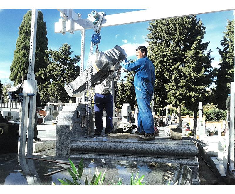 Grua portico de aluminio para 1.500 kg